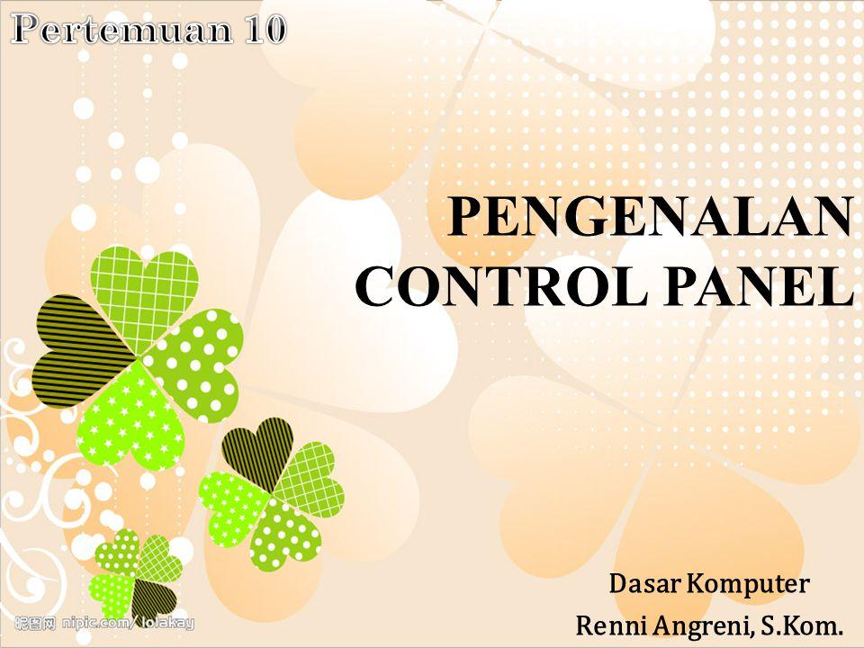 PENGENALAN CONTROL PANEL