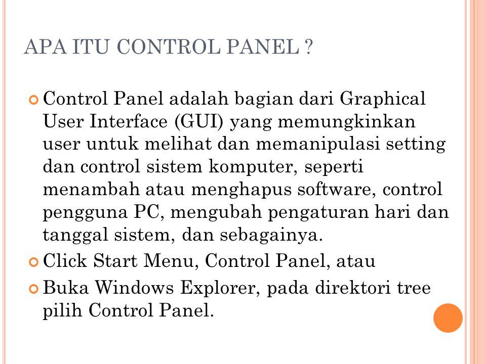 APA ITU CONTROL PANEL