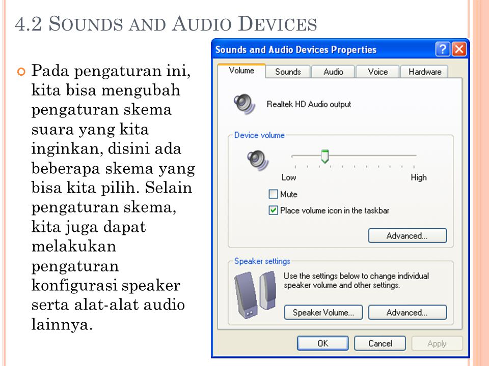 4.2 Sounds and Audio Devices