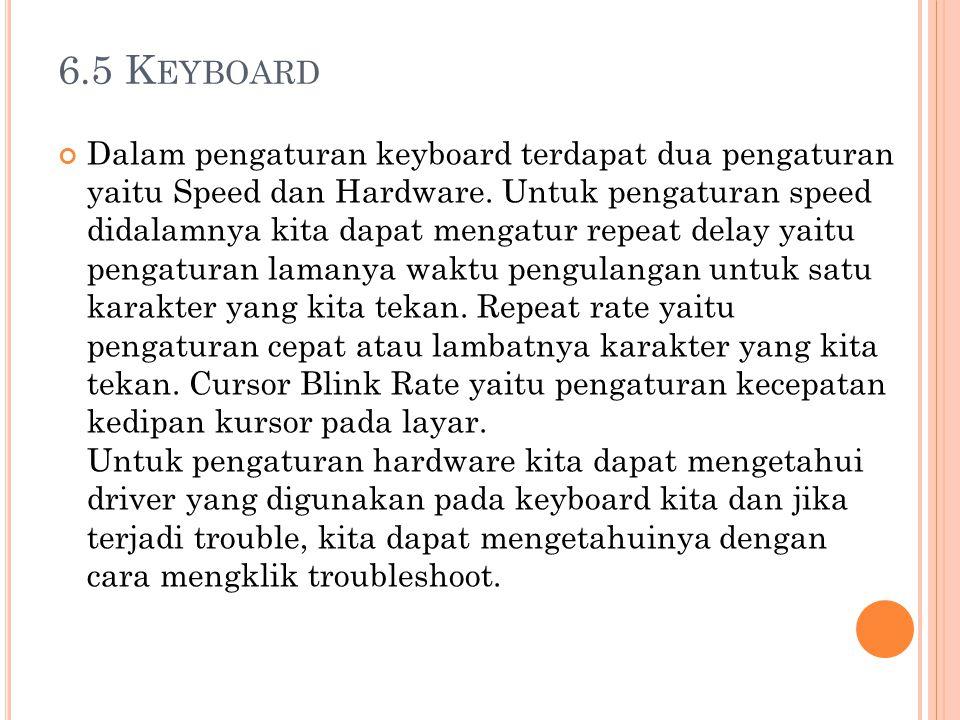 6.5 Keyboard