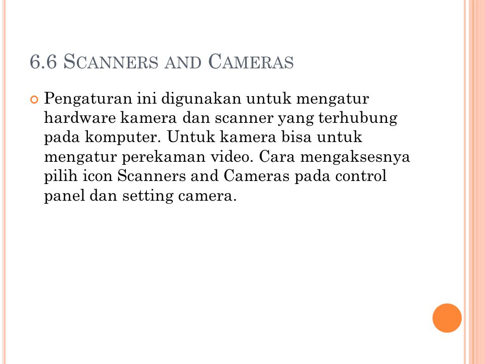 6.6 Scanners and Cameras