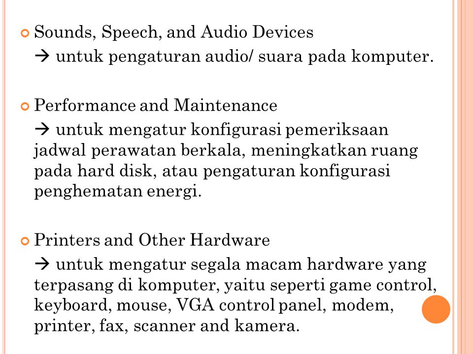 Sounds, Speech, and Audio Devices