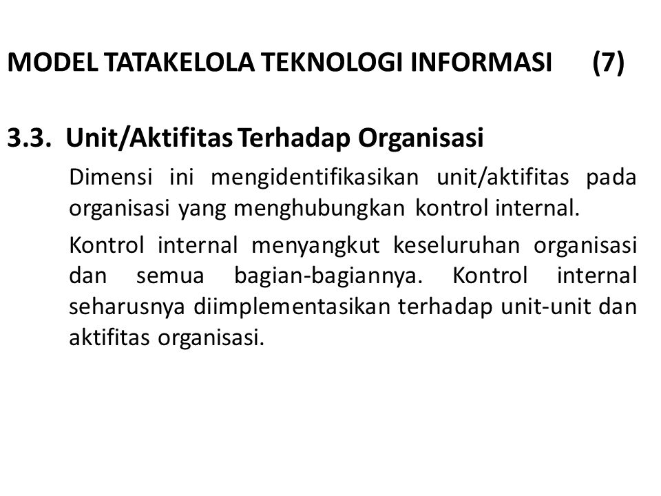 MODEL TATAKELOLA TEKNOLOGI INFORMASI (7)