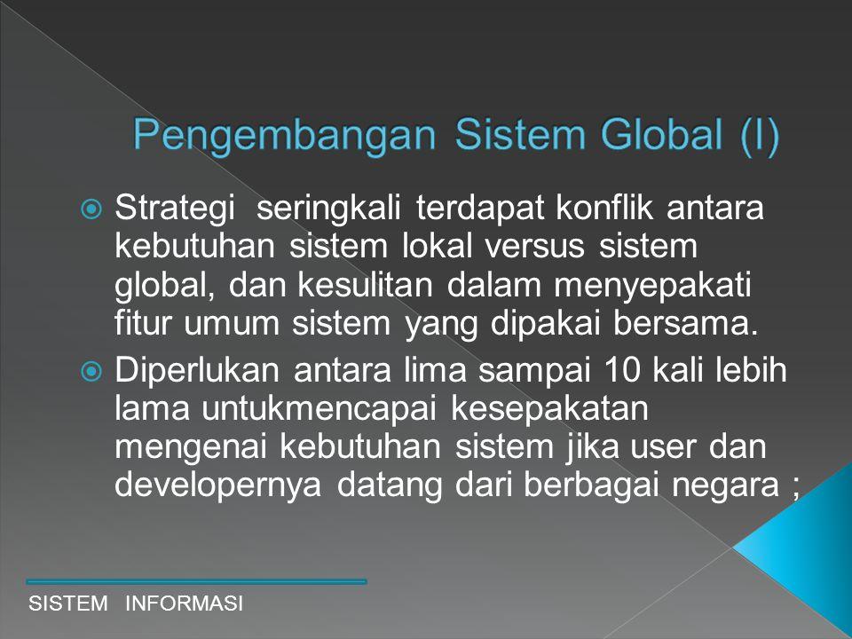 Pengembangan Sistem Global (I)