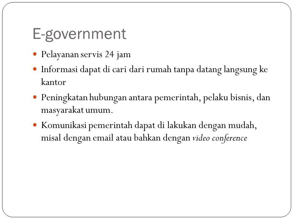 E-government Pelayanan servis 24 jam