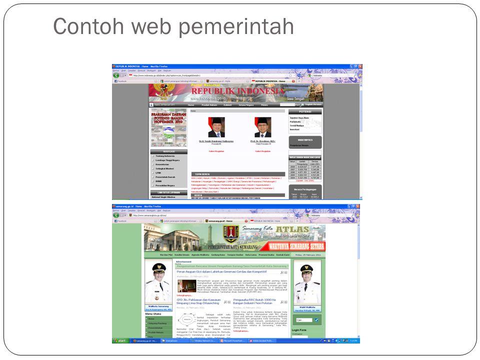 Contoh web pemerintah