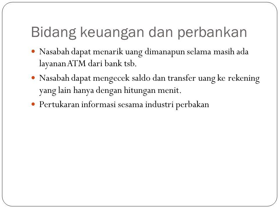 Bidang keuangan dan perbankan