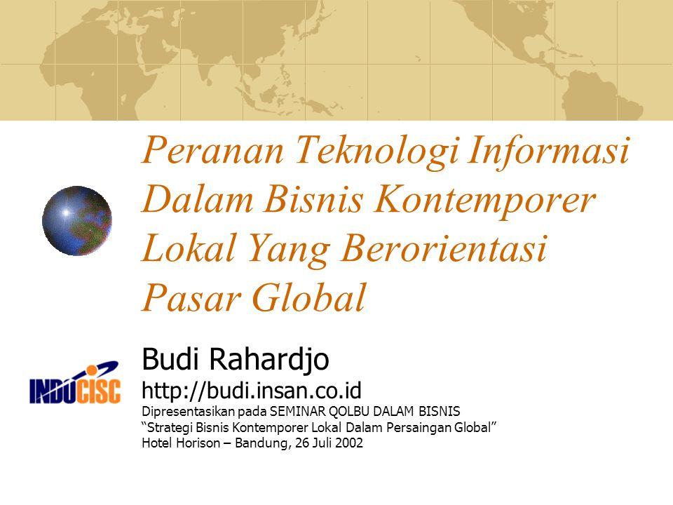 Peranan Teknologi Informasi Dalam Bisnis Kontemporer Lokal Yang Berorientasi Pasar Global