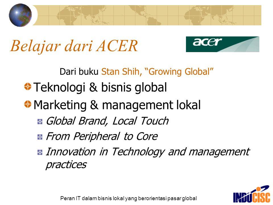 Belajar dari ACER Teknologi & bisnis global