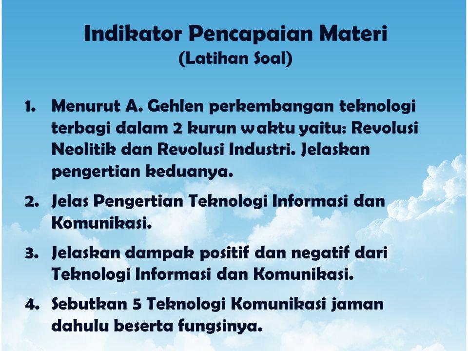 Indikator Pencapaian Materi