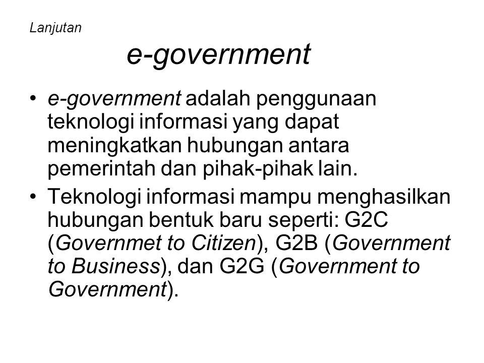 Lanjutan e-government