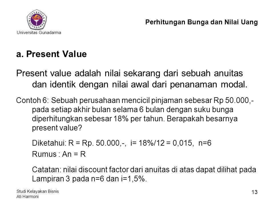 Perhitungan Bunga dan Nilai Uang