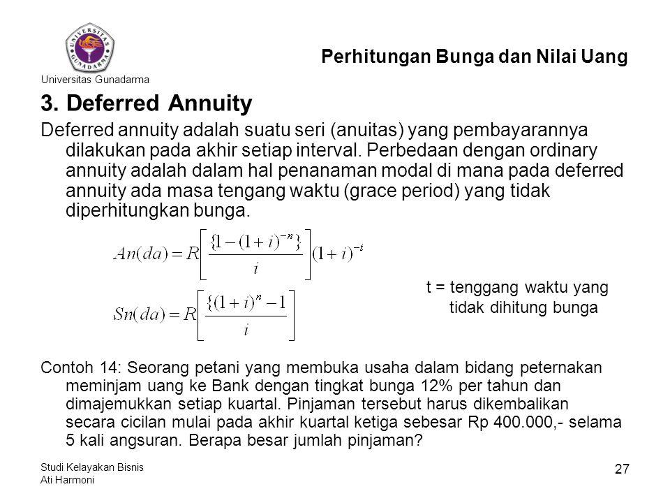 3. Deferred Annuity Perhitungan Bunga dan Nilai Uang