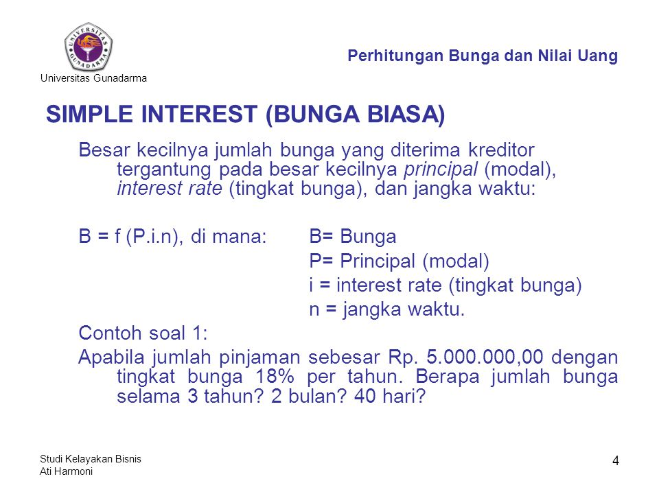 SIMPLE INTEREST (BUNGA BIASA)