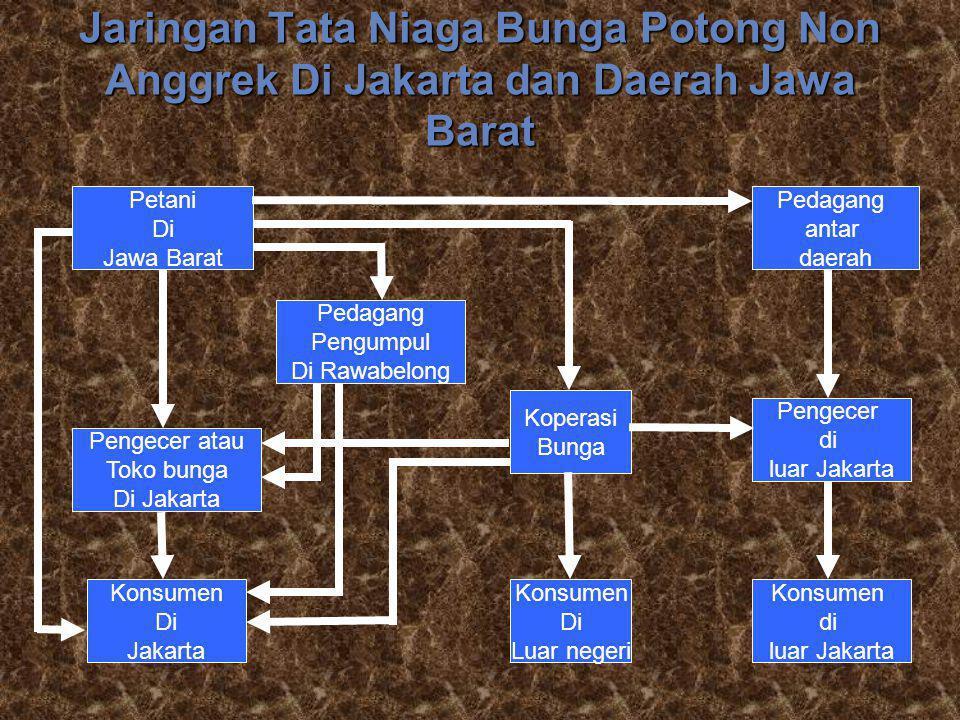 Jaringan Tata Niaga Bunga Potong Non Anggrek Di Jakarta dan Daerah Jawa Barat