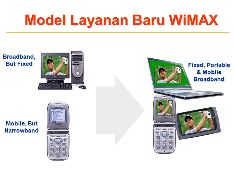 Model Layanan Baru WiMAX Fixed, Portable & Mobile