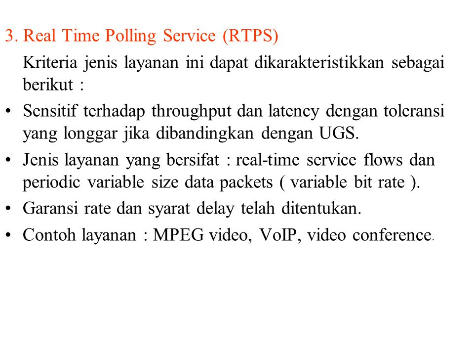 3. Real Time Polling Service (RTPS)