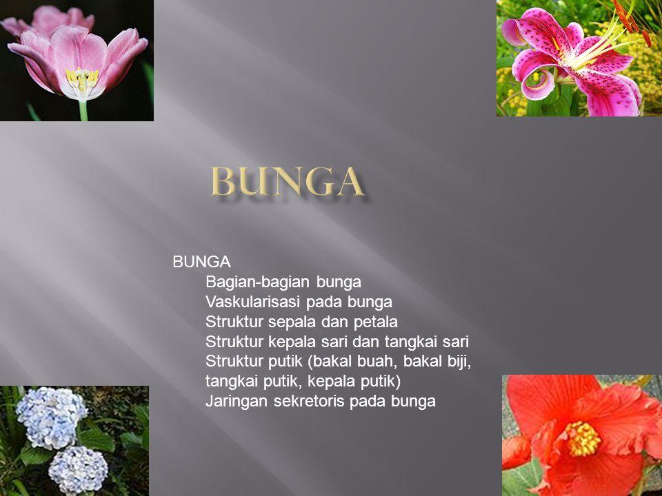 Bunga BUNGA Bagian-bagian bunga Vaskularisasi pada bunga