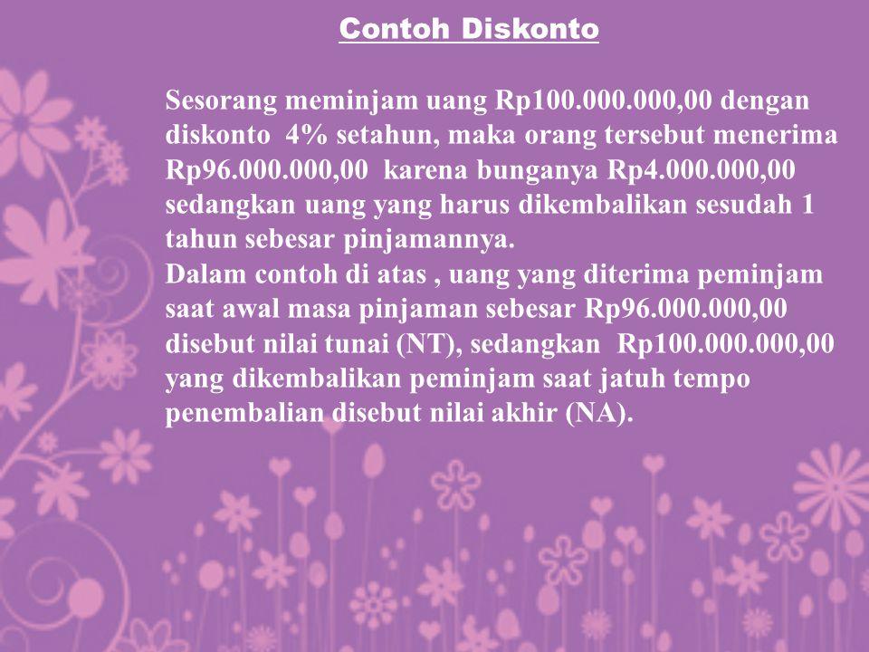 Contoh Diskonto