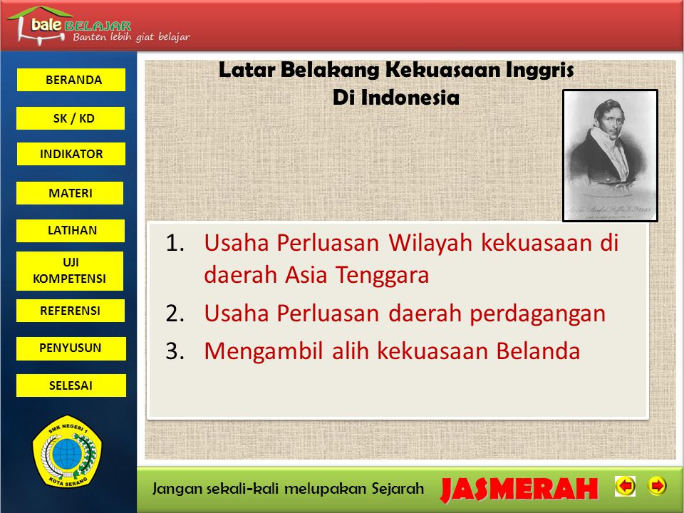 Latar Belakang Kekuasaan Inggris Di Indonesia
