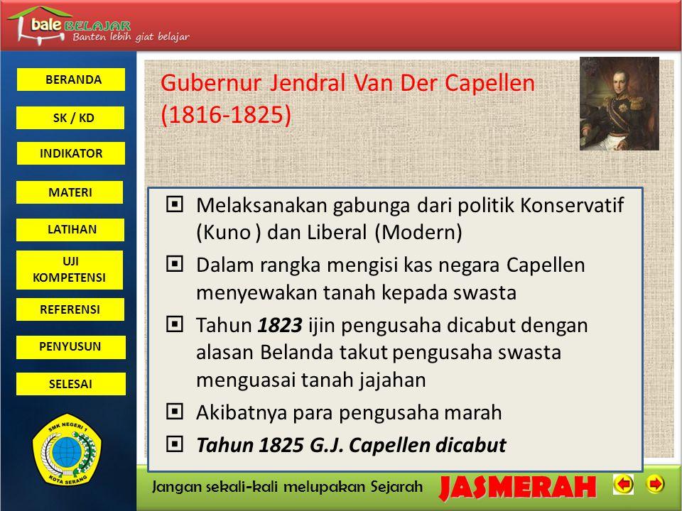 Gubernur Jendral Van Der Capellen (1816-1825)