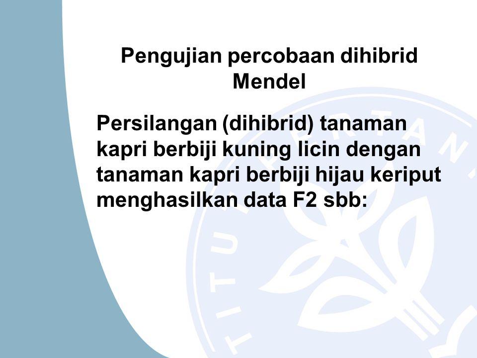 Pengujian percobaan dihibrid Mendel