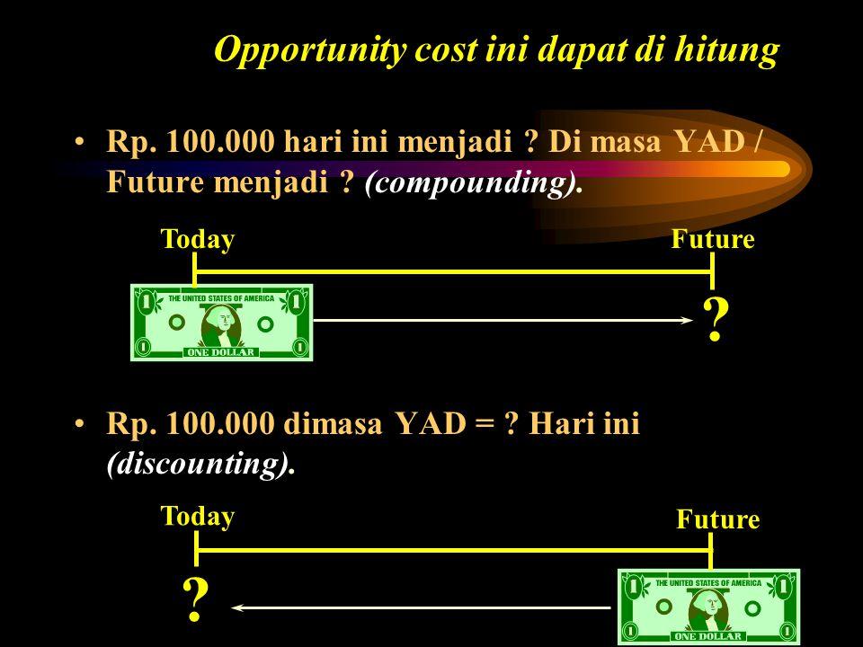 Opportunity cost ini dapat di hitung