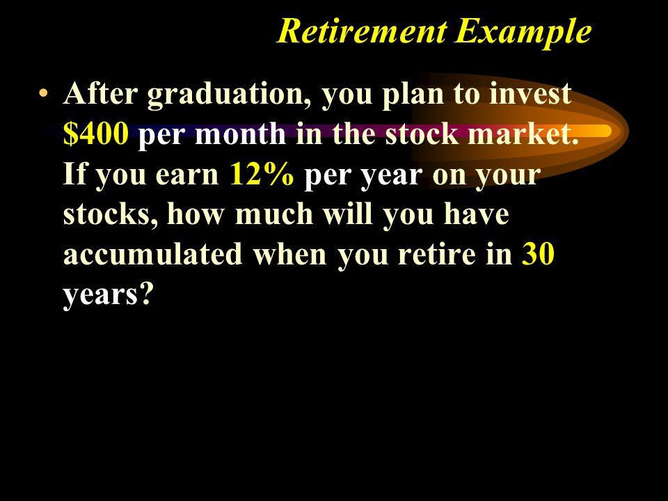 Retirement Example