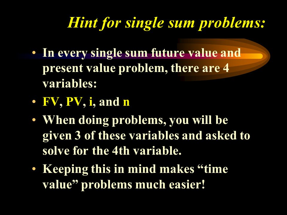 Hint for single sum problems: