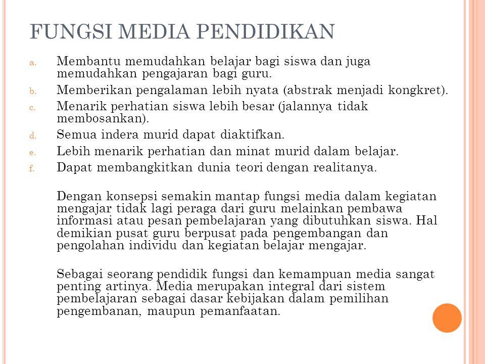 FUNGSI MEDIA PENDIDIKAN