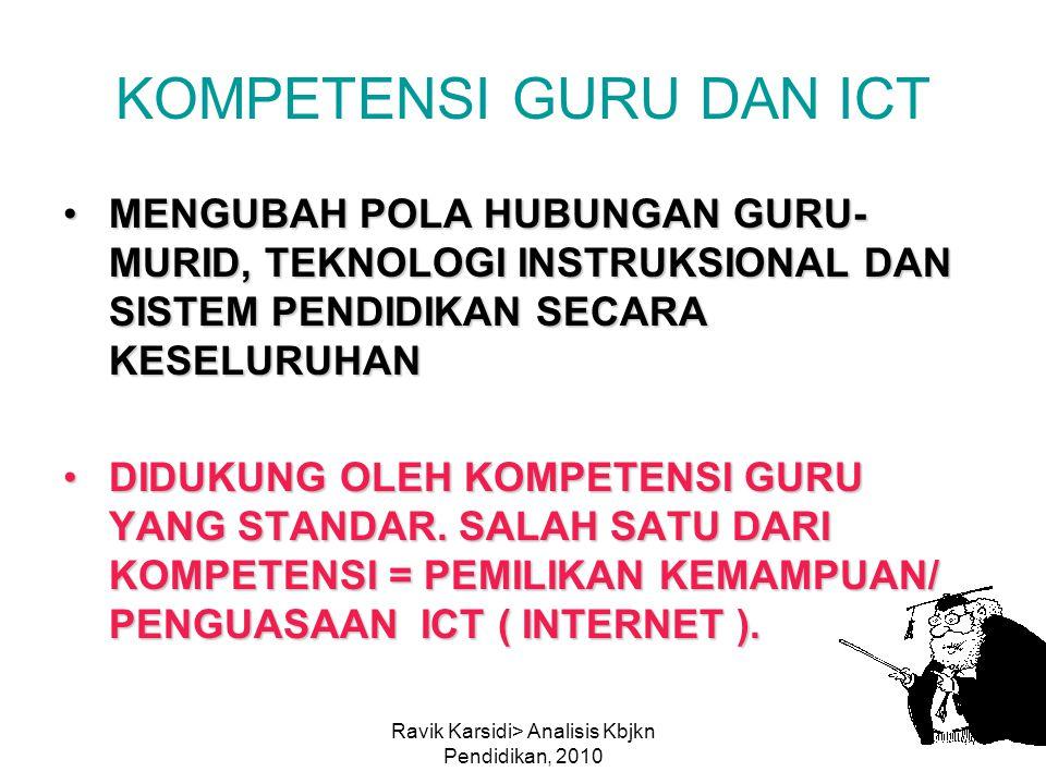 KOMPETENSI GURU DAN ICT