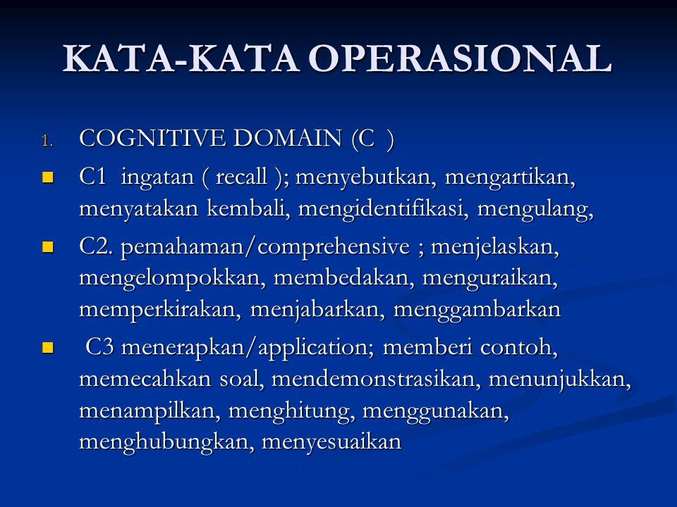 KATA-KATA OPERASIONAL