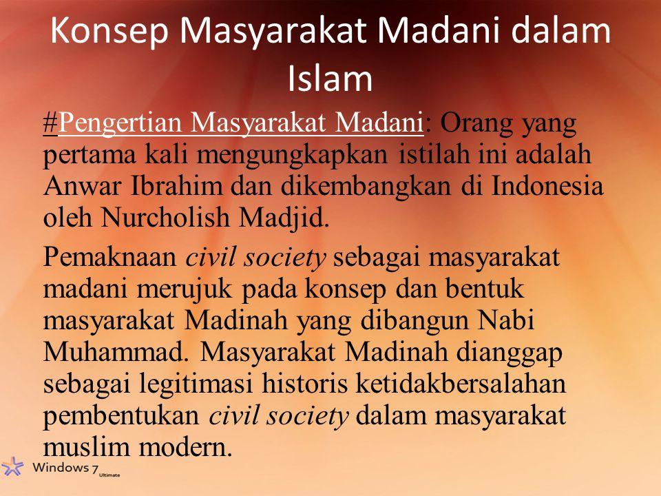 Konsep Masyarakat Madani dalam Islam