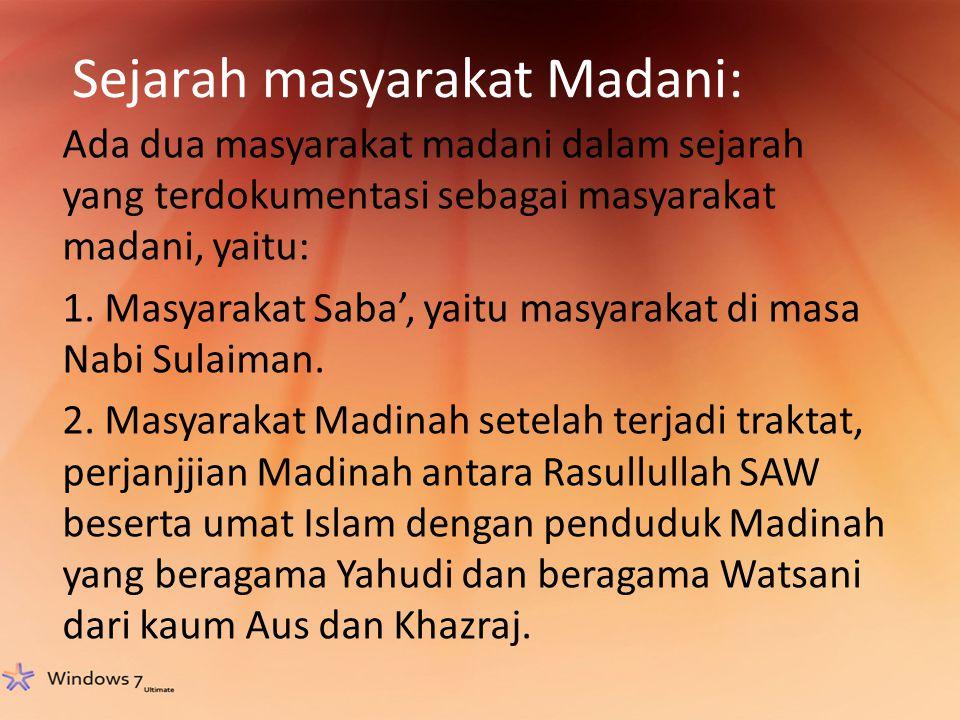 Sejarah masyarakat Madani: