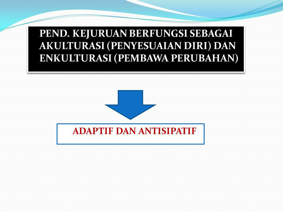 ADAPTIF DAN ANTISIPATIF