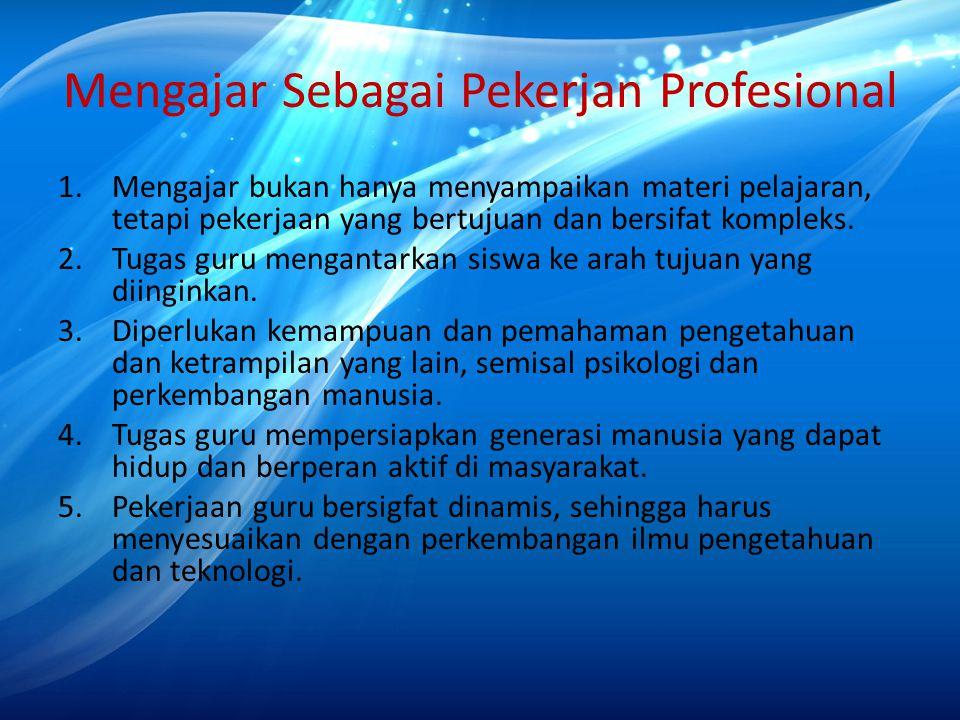 Mengajar Sebagai Pekerjan Profesional