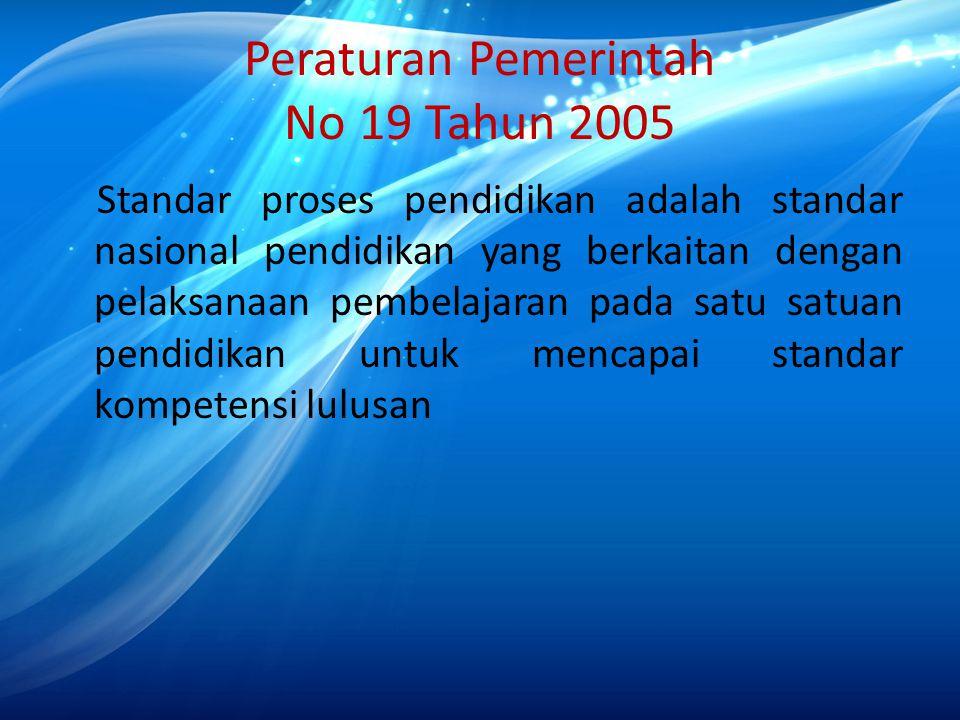 Peraturan Pemerintah No 19 Tahun 2005