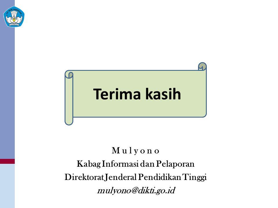 Kabag Informasi dan Pelaporan Direktorat Jenderal Pendidikan Tinggi