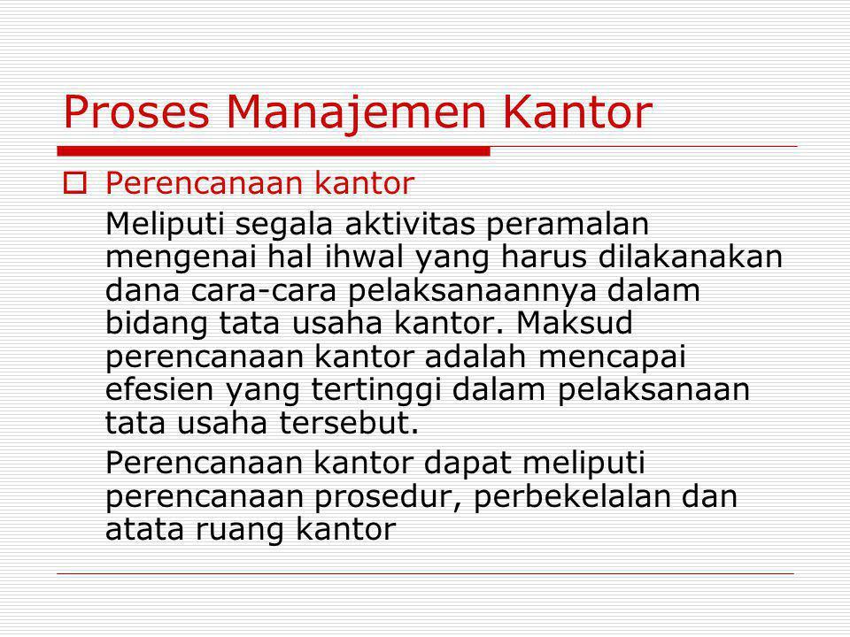 Proses Manajemen Kantor