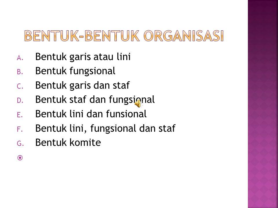 Bentuk-Bentuk Organisasi