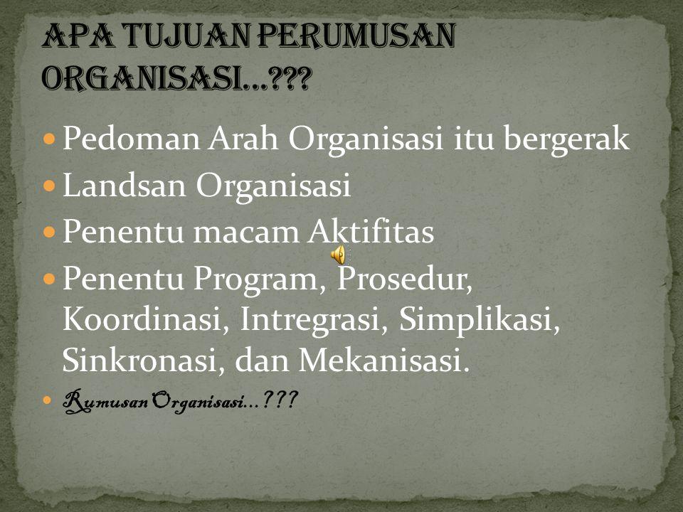 Apa Tujuan Perumusan Organisasi...