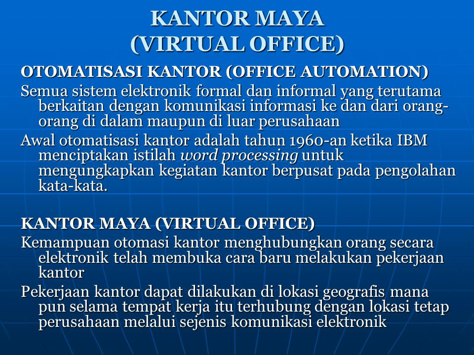 KANTOR MAYA (VIRTUAL OFFICE)