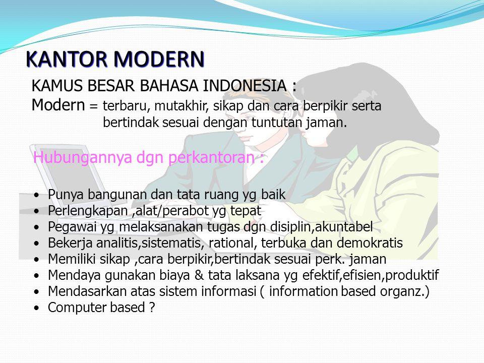 KANTOR MODERN KAMUS BESAR BAHASA INDONESIA :