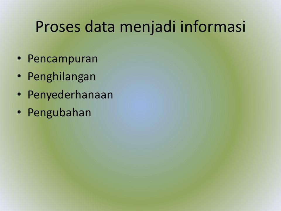 Proses data menjadi informasi