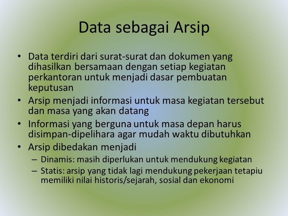 Data sebagai Arsip