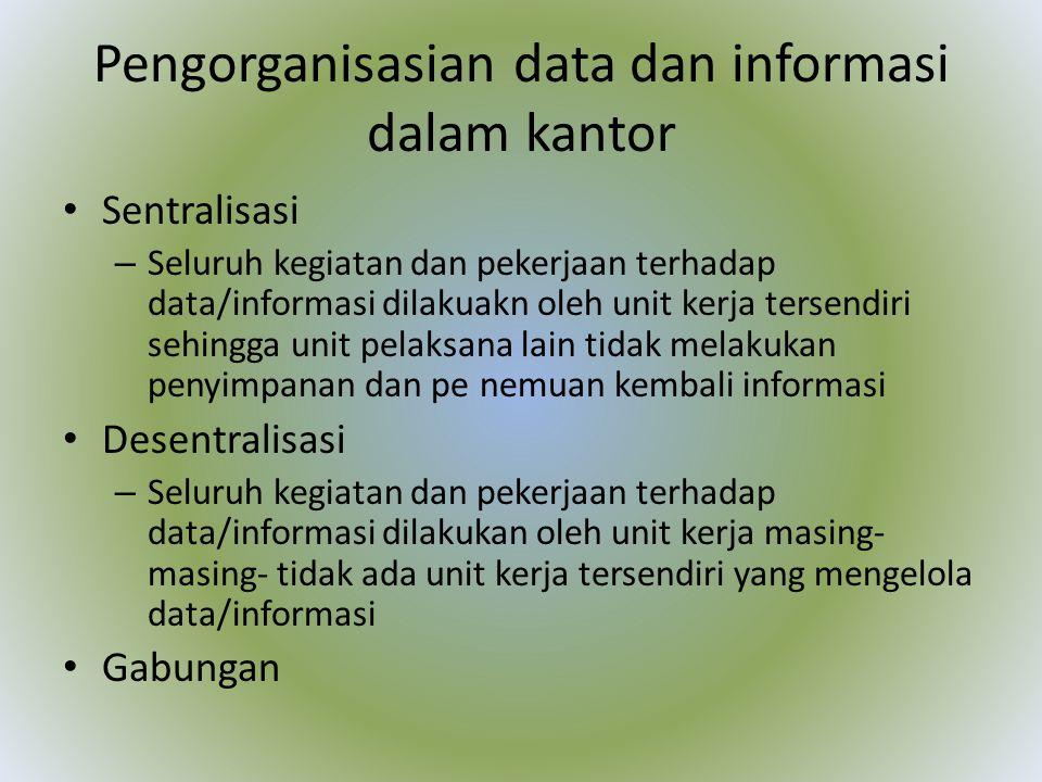 Pengorganisasian data dan informasi dalam kantor