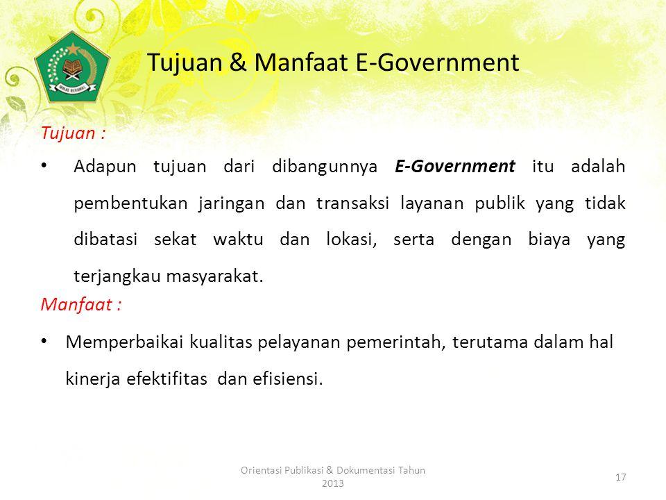 Tujuan & Manfaat E-Government