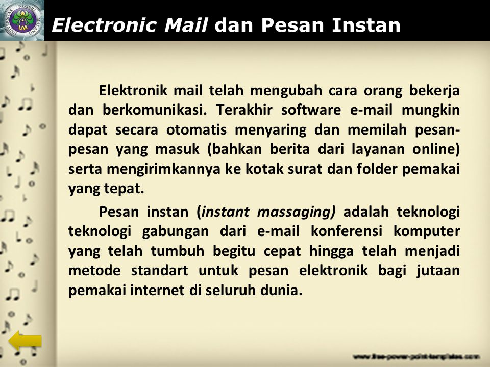 Electronic Mail dan Pesan Instan