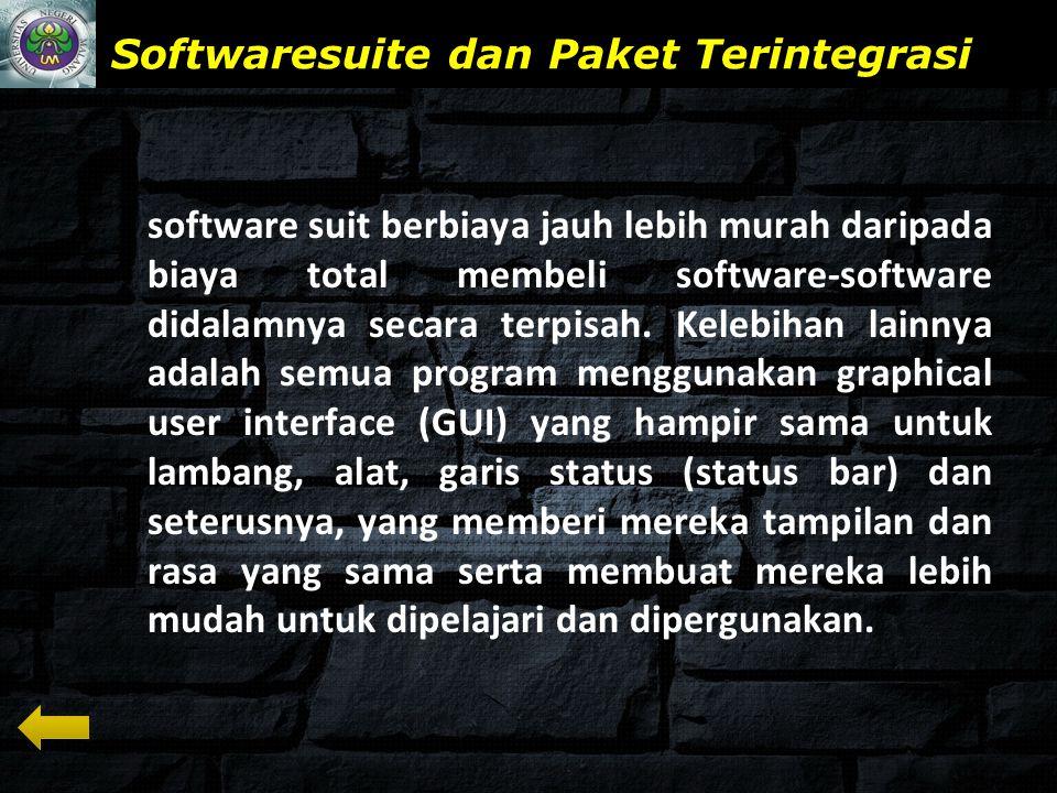 Softwaresuite dan Paket Terintegrasi