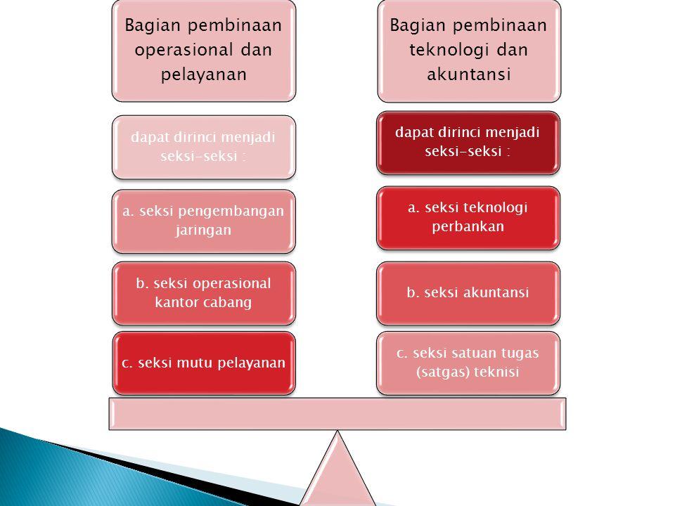 Bagian pembinaan operasional dan pelayanan
